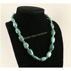 Single Strand Chinese Turquoise Necklace