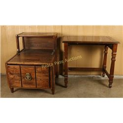 Lot of 2 Side Tables