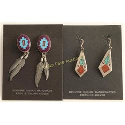 Lot of 2 Native American Made Earrings