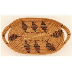 Northwest Coast Basketry Tray with Handles