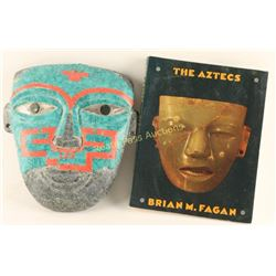 Aztec Mask with Book