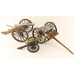 Collection of 2 Miniature Cannons