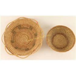 Collection of 2 Northern Plains Type Baskets