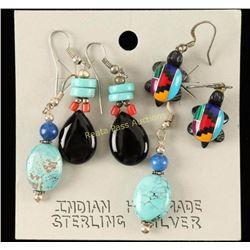 3 Pair Indian Made Earrings