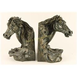 Pair of Horsehead Bookends