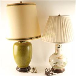 Lot of 2 Vintage Table Lamps