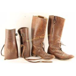 Vintage Leather Boots & Leggings