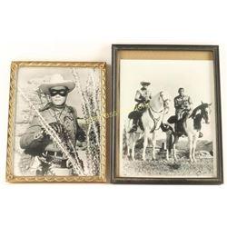 Lot of 2 B&W Lone Ranger Photos
