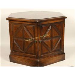 Oak Octagon Side Table