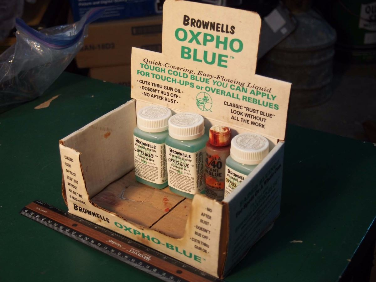 Brownells Oxpho Blue Display W/ Contents
