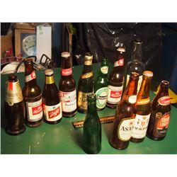 Lot Of Vintage Beer Bottles