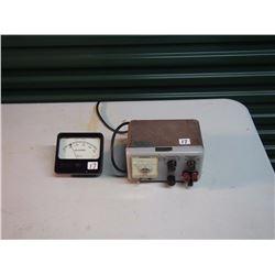 Hewlett Packard Voltage Meter / Simpson DC Meter