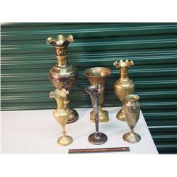Brass Vases (6)