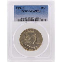 1950-D Franklin Half Dollar Coin PCGS Graded MS62FBL