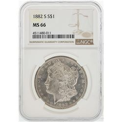 1882-S $1 Morgan Silver Dollar Coin NGC MS66