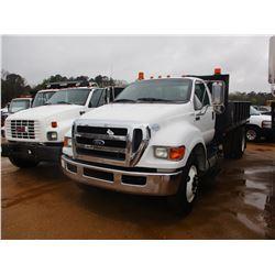 2011 FORD F750 FLATBED DUMP, VIN/SN:3FRXF7FJ0BV092214 - S/A, GVWR 30,000LB, CUMMINS DIESEL ENGINE,AL