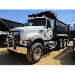 2018 MACK GU713 DUMP, VIN/SN:1M2AX07C7JM037102 -TRI-AXLE, 455 HP MACK MP8 ENGINE, MACK T310M 10 SPEE