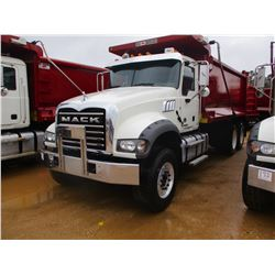 2017 MACK GU713 DUMP, VIN/SN:1M2AX07C0HM036495 - T/A, 455 HP MACK MP8 ENGINE, ALLISON 4500 RDS A/T,