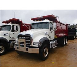 2017 MACK GU713 DUMP, VIN/SN:1M2AX07C9HM036494 - T/A, 455 HP MACK MP8 ENGINE, ALLISON 4500 RDS A/T,