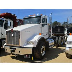 2018 KENWORTH T800 CAB & CHASSIS, VIN/SN:1NKDL40XXJJ205445 - T/A, 500 HP CUMMINS X15 ENGINE, ALLISON