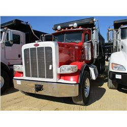 2013 PETERBILT 389K DUMP, VIN/SN:1NPXGGGG70D195991 - GLIDER KIT, TRI-AXLE, 550 HP CAT C15 ENGINE, 18