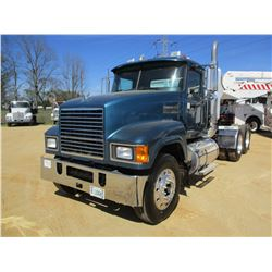 2009 MACK CHU613 TRUCK TRACTOR, VIN/SN:1M1AN07Y39N004268 - T/A, 445 MACK MP8 ENGINE, 10 SPEED TRANS,