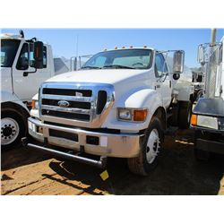 2007 FORD F750 WATER TRUCK, VIN/SN:3FRPF75E17V509643 - S/A, GVWR 33,000 LB, CUMMINS DIESEL ENGINE, 6