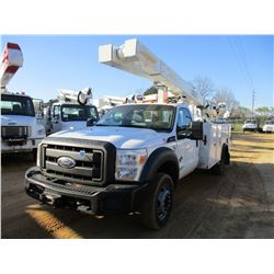 2012 FORD F550 BUCKET TRUCK, VIN/SN:1FDUF5HT8BEA37696 - S/A, FORD POWERSTROKE ENGINE, A/T, 19,500# G