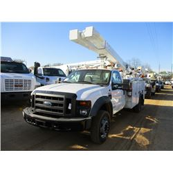2008 FORD F550 BUCKET TRUCK, VIN/SN:1FDAF57R58EE17757 - S/A, FORD POWERSTROKE ENGINE, A/T, 19,500# G