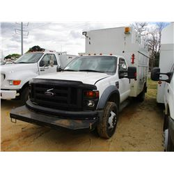 2009 FORD F550 SERVICE TRUCK, VIN/SN:1FDAF56R29EB04698 - S/A, FORD DIESEL ENGINE, AUTO TRANS, ALTEC
