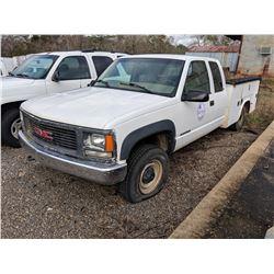 1999 GMC 2500 SERVICE TRUCK, VIN/SN:1GTGK29J5XF099860 - 4X4, EXT CAB, V8 GAS ENGINE, A/T, KNAPHEIDE