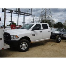 2018 DODGE RAM 3500 HD CAB AND CHASSIS, VIN/SN:3C7WR9CJXJG206340 - 4X4, CREW CAB, V8 GAS ENGINE, A/T