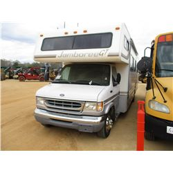 """1999 FORD F450 MOTOR HOME, VIN/SN:1FDXE4050XHA00368 - S/A, V10 GAS ENGINE, A/T, 31"""" JAMBOREE CAMPER"""
