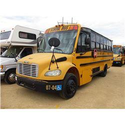 2007 THOMAS SCHOOL BUS, VIN/SN:4UZABRCS27CX81480 - 24 PASSENGER, A/C, A/T, ODOMETER READING 139,028