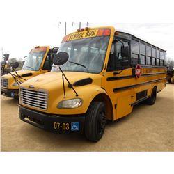 2007 THOMAS SCHOOL BUS, VIN/SN:4UZABRCS27CX81480 - 24 PASSENGER, A/C, A/T, ODOMETER READING 130,194