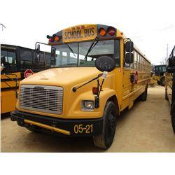 2005 FREIGHTLINER SCHOOL BUS, VIN/SN:4UZAAXCS95CU31557 - 73 PASSENGER, A/T, A/C, ODOMETER READING 17