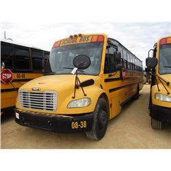 2008 THOMAS SCHOOL BUS, VIN/SN:4UZABRCS68CY48292 - 73 PASSENGER, A/T, A/C, ODOMETER READING 160,956