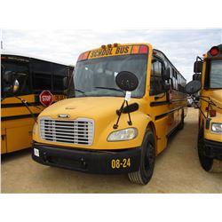 2008 THOMAS SCHOOL BUS, VIN/SN:4UZABRCS18CY48278 - 73 PASSENGER, A/T, A/C, ODOMETER READING 112,867