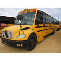 2008 THOMAS SCHOOL BUS, VIN/SN:4UZABRC568CY48289 - 49 PASSENGER, A/T, A/C, ODOMETER READING 178,642