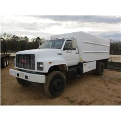 1993 GMC TOP KICK, VIN/SN:1GD17H2P2PJ510834 -S/A, 356 GAS ENGINE, 5 SPEED MANUAL, ENCLOSE DUMP BED (