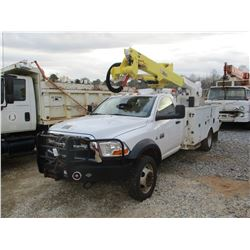 2011 DODGE RAM 5500 BUCKET TRUCK, VIN/SN:3D6WU7EL3BG552191 - 4X4, TURBO DIESEL ENGINE, 6 SPEED MANIA