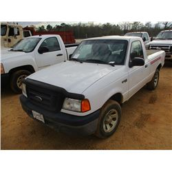2004 FORD RANGER XLT PICKUP, VIN/SN:1FTYR10DX4PA80566 - V6 ENGINE, 5 SPEED MANUAL (DOES NOT OPERATE)