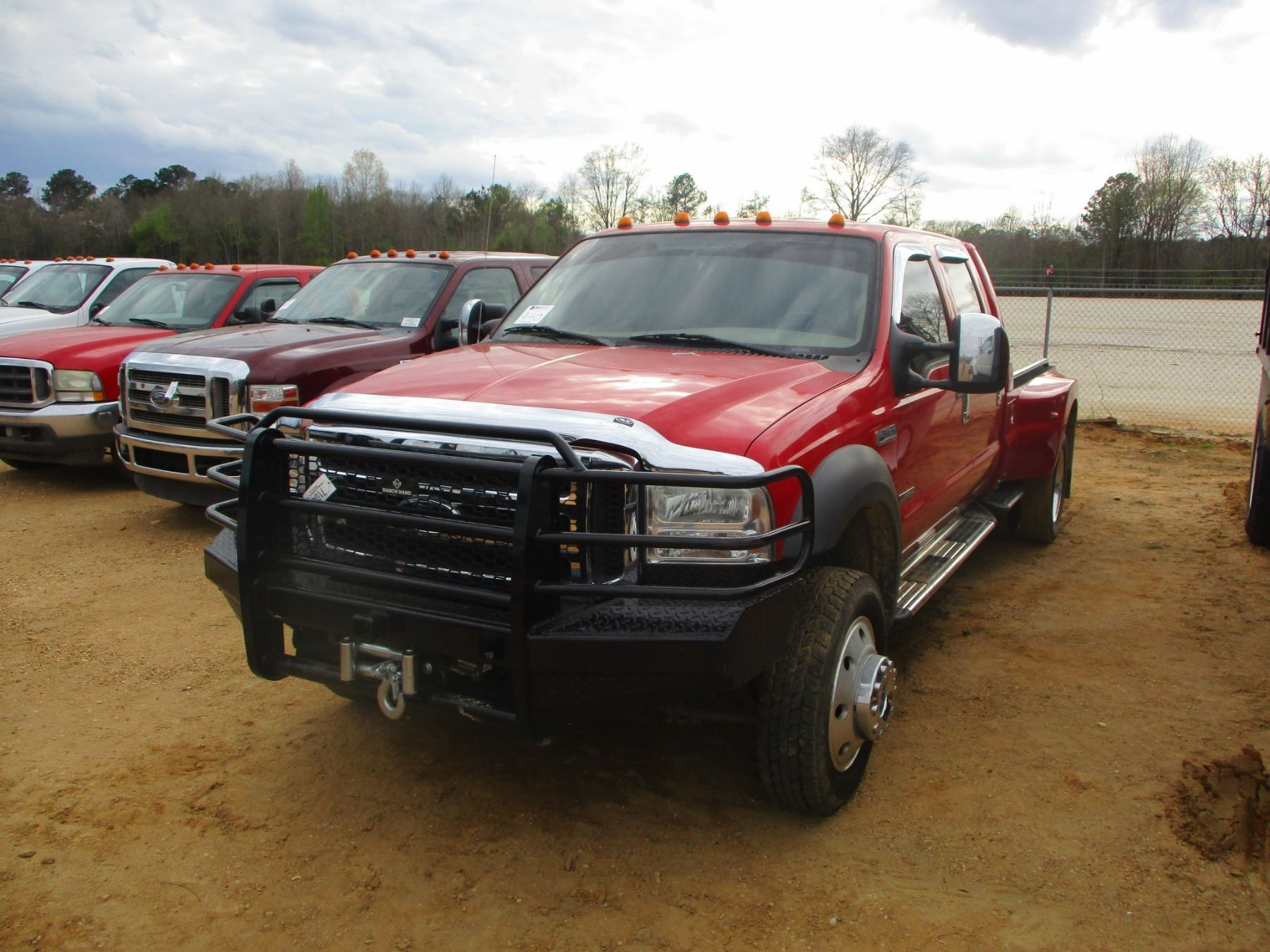 2005 Ford F450 Dually Flatbed Vin Sn 1fdxw47p45ea87902 Powerstroke Diesel Engine A T Crew Cab