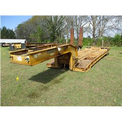 """HYSTER LOWBOY TRAILER, - T/A, GROUND BEARING, 20' WELL, 96"""" WIDTH, 10.00R15 TIRES"""