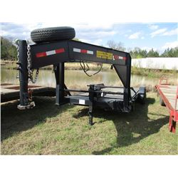 2015 BAGGETTS TRAILER CONNECTI GOOSENECK TRAILER, VIN/SN:5WPB3FG2FP002853 - 10,000#, 7'X20' DECK, HY