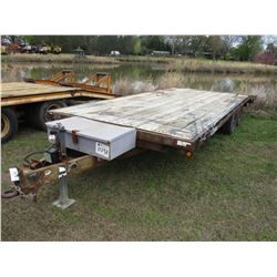 VIKING UTILITY TRAILER, VIN/SN:1038231 - 20', T/A, 7.5' WIDE, 4' DOVETAIL, 225/75R15 TIRES