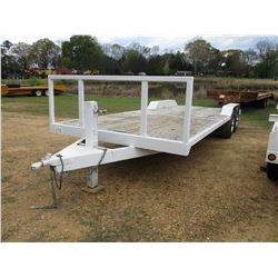 "SHOPBUILT UTLITY TRAILER, - T/A, 20' LENGTH, 96"" WIDE, LT225 TIRES, 11R22.5 FRONT TIRES, ODOMETER RE"