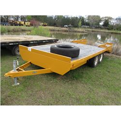 TRAILER WORLD UTILITY TRAILER, - T/A, 16' LENGTH, DOVETAIL, RAMPS