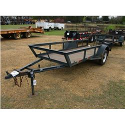 "UTILITY TRAILER, - 4'2"" X 12'2"" DECK, FOLD DOWN GATE, 175/80D13 TIRES (STATE OWNED)"