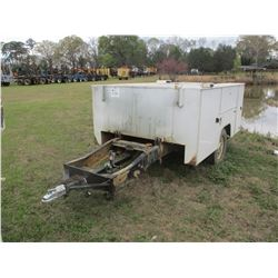 SHOPBUILT TRAILER W/SERVICE BODY, - 265/75R16 TIRES